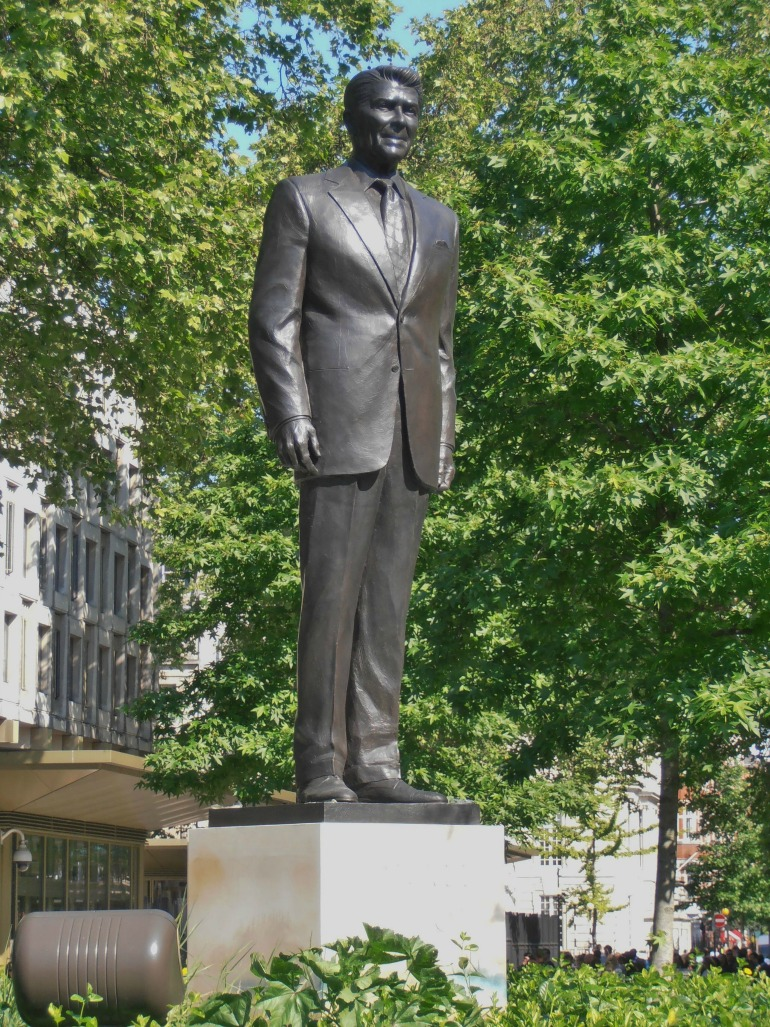 Statue of United States President Ronald Reagan in London. Photo Credit: ©Ham via Wikimedia Commons.