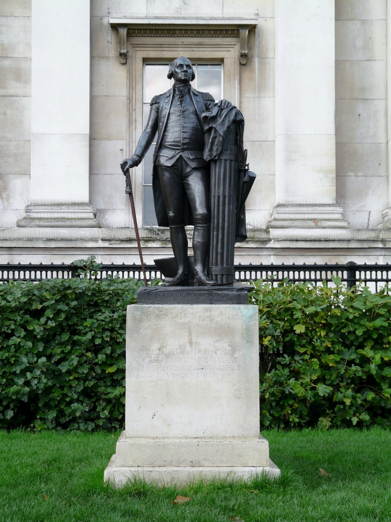 Statute of United States President George Washington in London. Photo Credit: ©Ham via Wikimedia Commons.