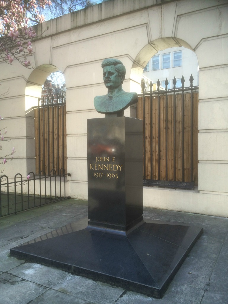 "Statute of United States President John Fitzgerald ""Jack"" Kennedy in London. Photo Credit: ©Edwin Lerner."
