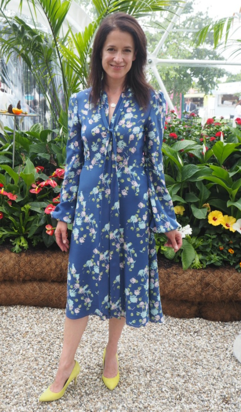2016 RHS Hampton Court Palace Flower Show: Butterfly Dome - Actress Raquel Cassidy. Photo Credit: ©Ursula Petula Barzey.