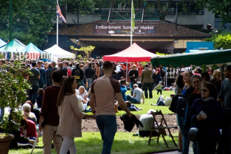 Embankment Summer Market. Photo Credit: ©Bob Marsden.
