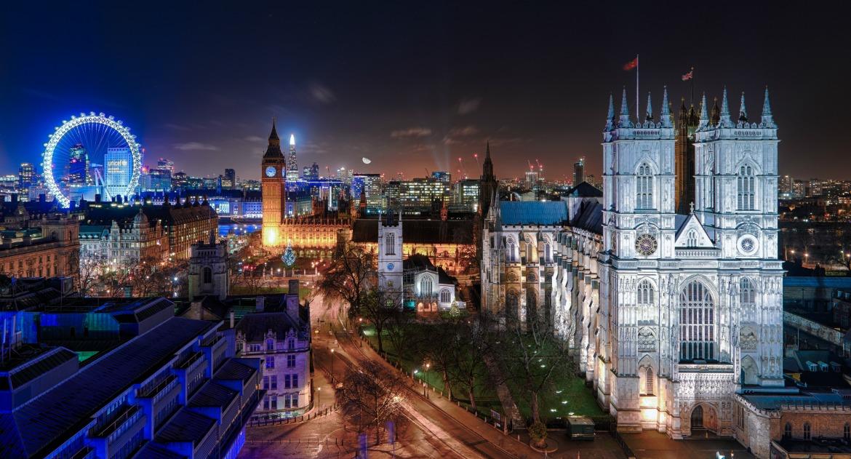 London Skyline - Westminster Abbey, Big Ben & London Eye. Photo Credit: ©London & Partners.