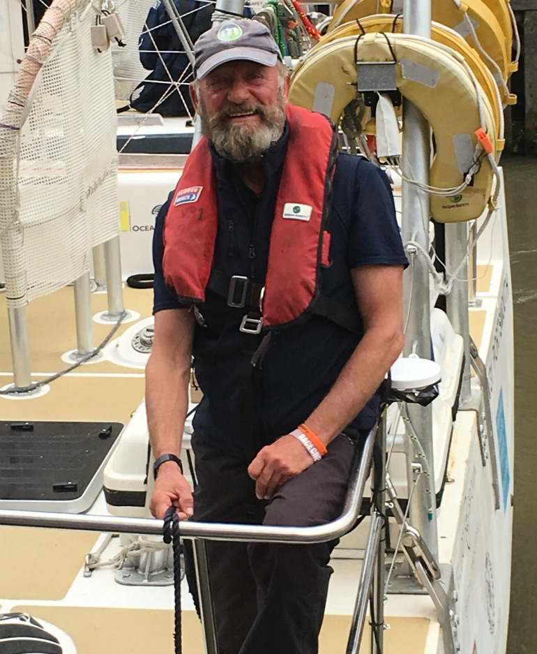 Blue Badge Tourist Guide Brian Harlock on return from round the world sailing trip. Photo Credit: ©Liz Rubenstein.
