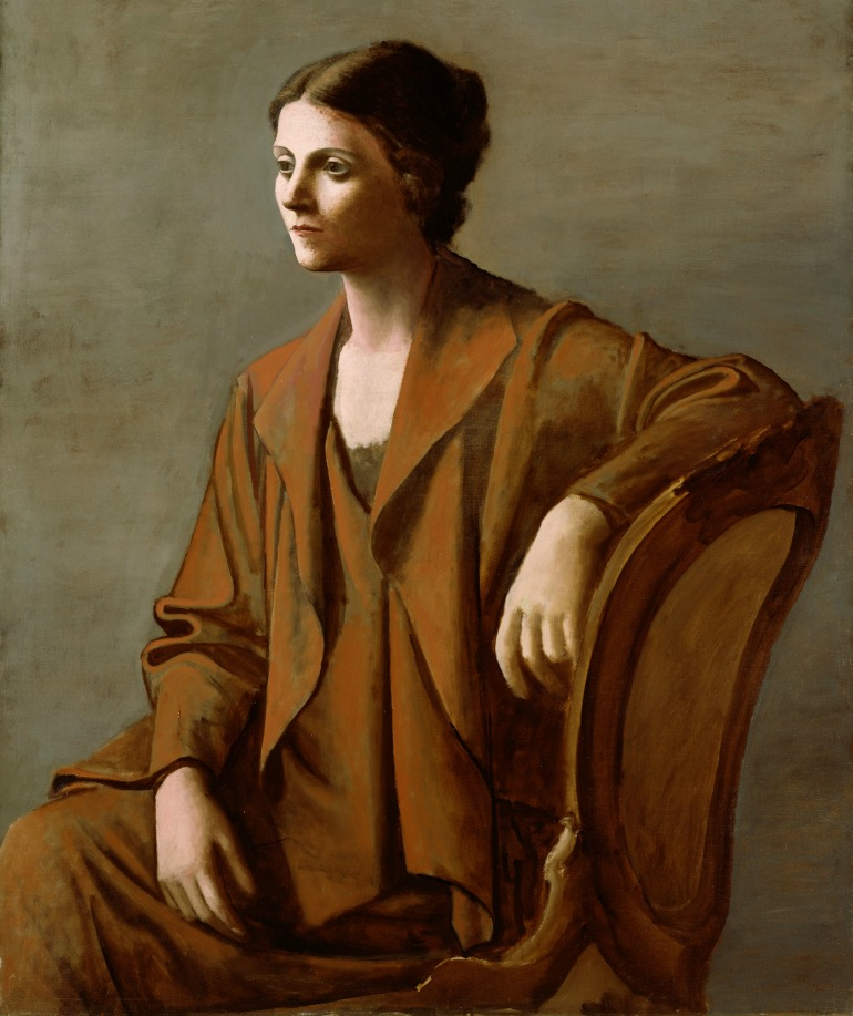 Portrait of Olga Picasso, 1923.  Photo Credit: ©Succession Picasso/DACS London, 2016.
