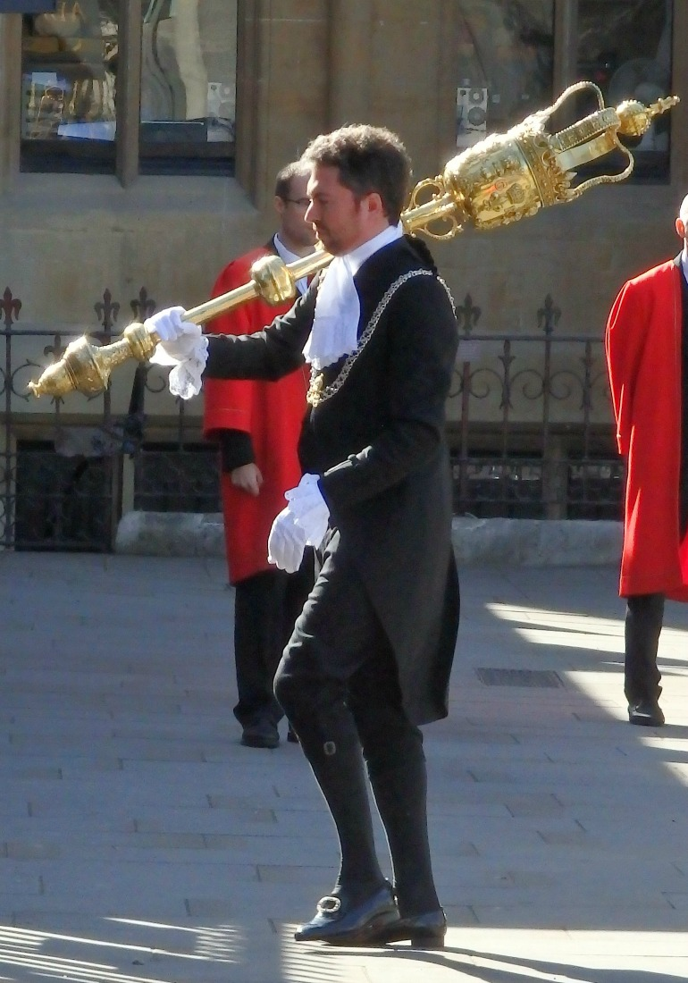 Judges Service at Westminster Abbey - Serjeant of Arms with the mace. Photo Credit: ©Angela Morgan.