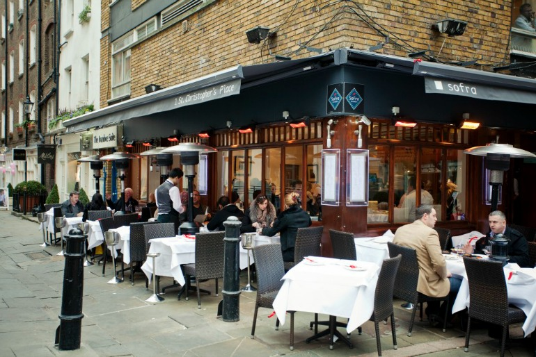 London West End Marylebone St, Christopher's Place restaurant. Photo Credit: ©London & Partners.
