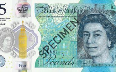 New Plastic £5 banknotes.