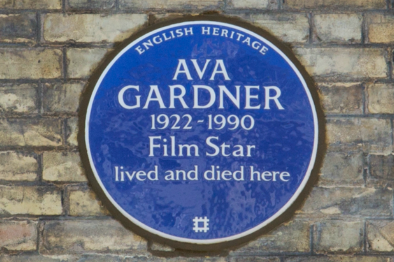 Ava Gardner Blue Plaque. Photo Credit: ©English Heritage.