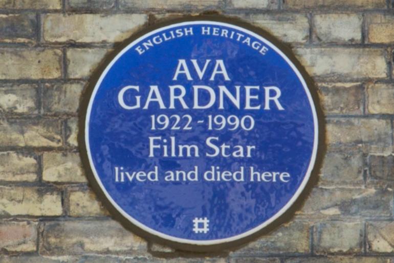 Ava Gardner Blue Plaque. Photo Credit: ©English Heritage.