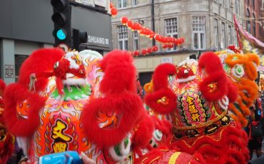 London Chinatown - Chinese New Year Parade - Dragon Dancers. Photo Credit: © Ursula Petula Barzey.