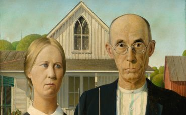 Royal Academy of Arts: Grant Wood, American Gothic, 1930. Photo Credit: © The Art Institute of Chicago/Friends of American Art Collection.