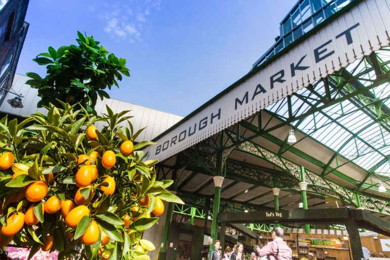 Borough Market with oranges. Photo Credit: © London & Partners.