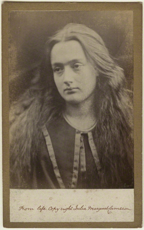 Photograph of Annie Cameron (née Chinery) by Julia Margaret Cameron, albumen print on gold-edged cabinet, 1869. Photo Credit: © Ursula Petula Barzey.