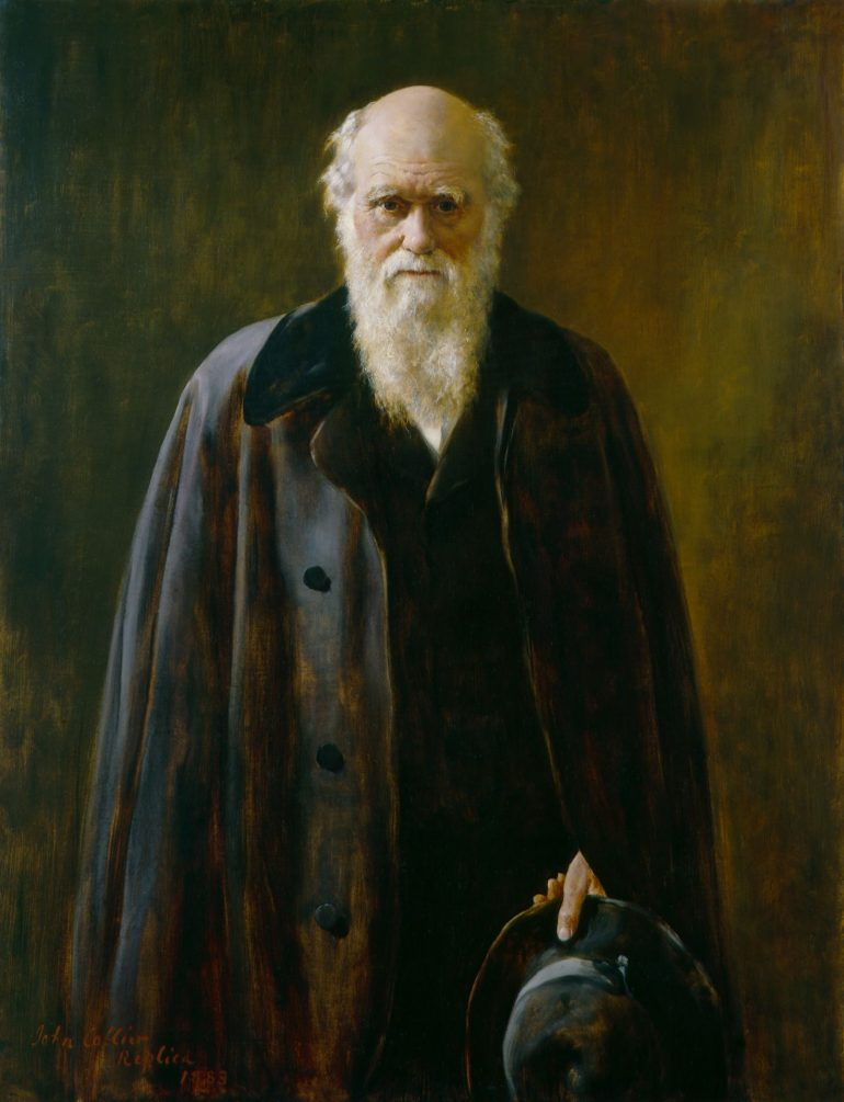 National Portrait Gallery: Charles Darwin copy by John Collier, 1883, based on a work of 1881. Photo Credit: © National Portrait Gallery, London.