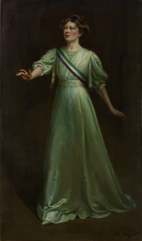 National Portrait Gallery: Portrait of Dame Christabel Pankhurst by Ethel Wright. Photo Credit: © National Portrait Gallery, London.