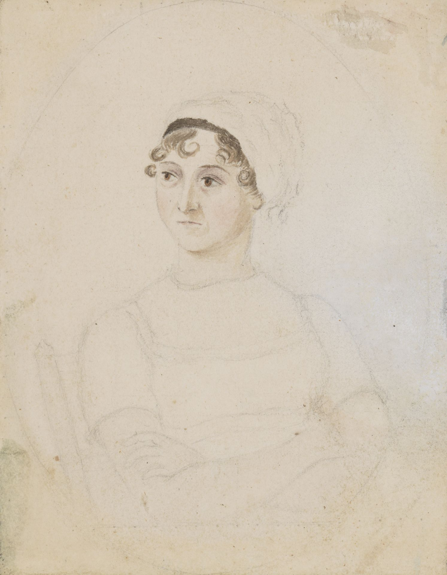 National Portrait Gallery: Portrait of Jane Austen by Cassandra Austen, circa 1810. Photo Credit: © National Portrait Gallery, London.