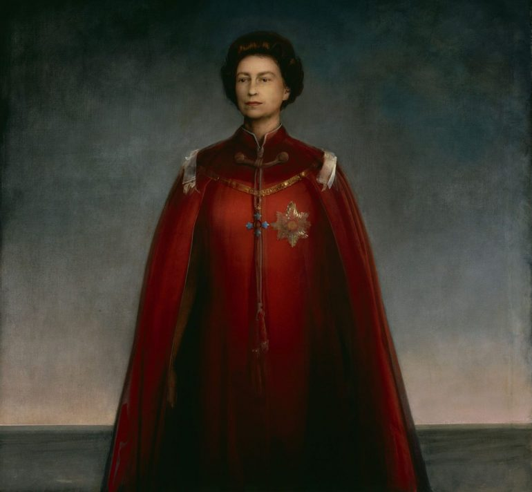 National Portrait Gallery: Portrait of Queen Elizabeth II by Pietro Annigoni,1969. Photo Credit: © National Portrait Gallery, London.
