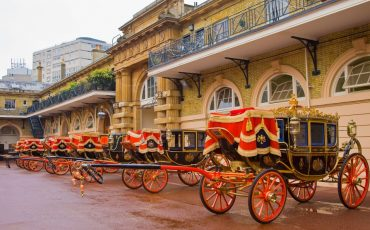 Buckingham Palace: Coaches at the Royal Mews. Photo Credit: © Pawel Libera / Royal Trust Collection.