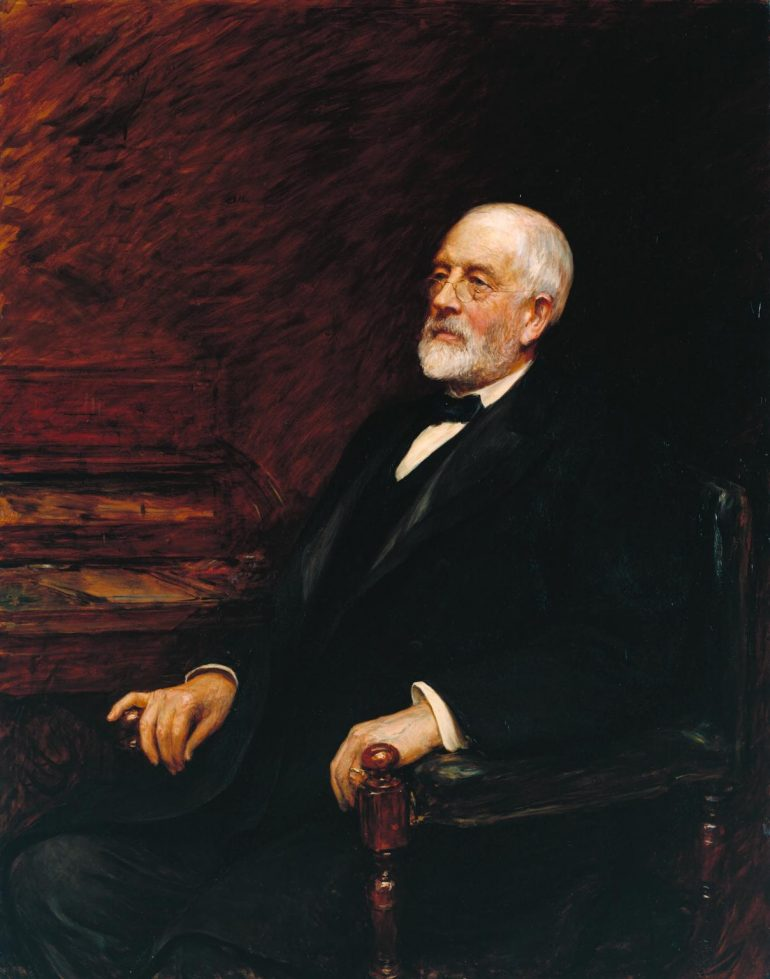 Portrait of Sir Henry Tate 1897 by Sir Hubert Von Herkomer 1849-1914 Bequeathed by Amy, Lady Tate 1920. Photo Credit: © Tate Modern.