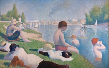 The National Gallery: Georges Seurat - Bathers at Asnières. Photo Credit: © The National Gallery, London.