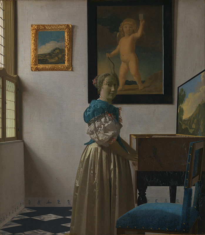 The National Gallery: Johannes Vermeer_A Young Woman standing at a Virginal. Photo Credit: © National Gallery, London.