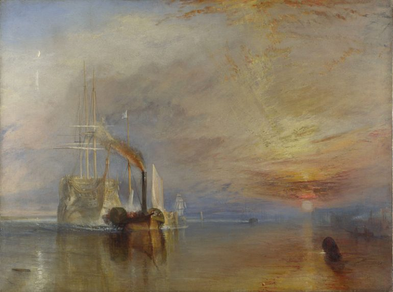 The National Gallery: Joseph Mallord William Turner, The Fighting Temeraire. Photo Credit: © The National Gallery, London.