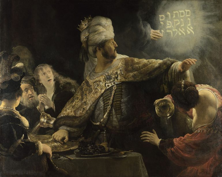 The National Gallery: Rembrandt - Belshazzar's Feast. Photo Credit: © The National Gallery, London.