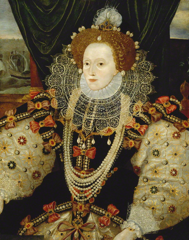 National Portrait Gallery: Portrait of Queen Elizabeth I by Unknown English artist, circa 1588. Photo Credit: © National Portrait Gallery, London.