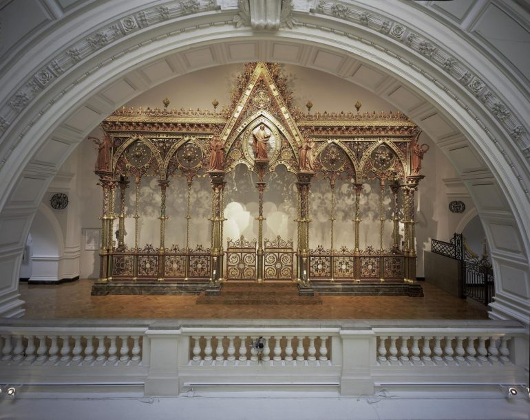 Victoria & Albert Museum: The Hereford Screen - Victorian metalwork choir screen in the Gothic Revival style. Photo Credit: © Victoria & Albert Museum, London.