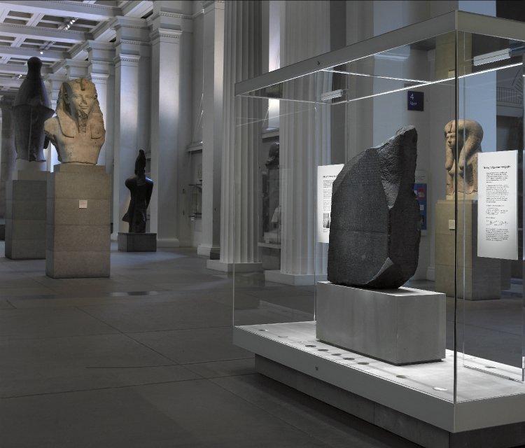 British Museum: The Rosetta Stone in Gallery. Photo Credit: © British Museum, London.