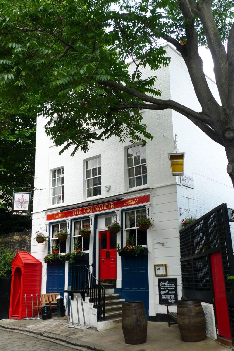 The Grenadier Pub. Photo Credit: © Oxyman via Wikimedia Commons.