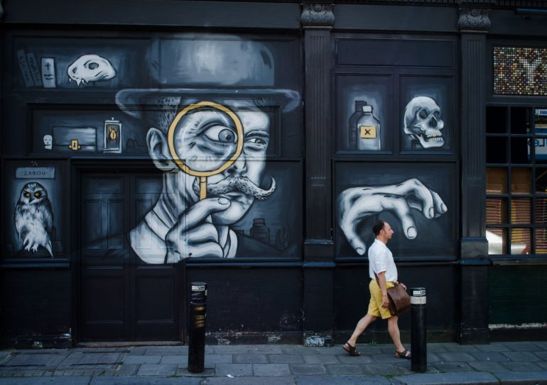 London Street Art: Zabou Artist - Cabinet of Curiosities. Photo Credit: © Alex Lacey.