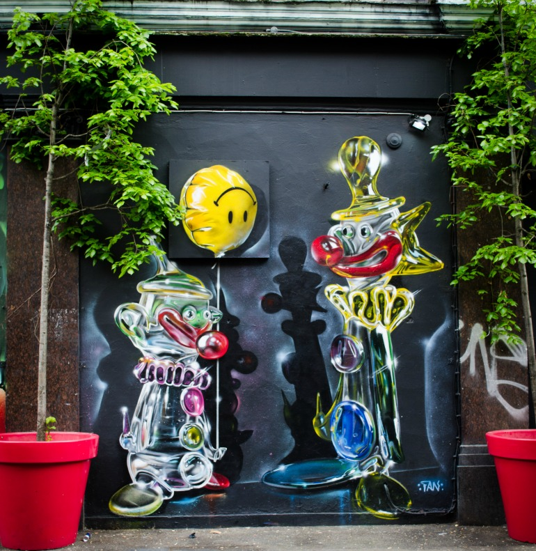 London Street Art: Fanakapan Artist - Shoreditch Clowns. Photo Credit: © Alex Lacey.