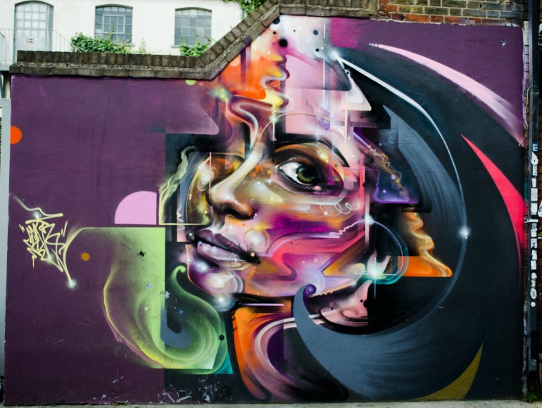 London Street Art: Mr Cenz - Beautiful Woman on Fashion Street. Photo Credit: © Alex Lacey.