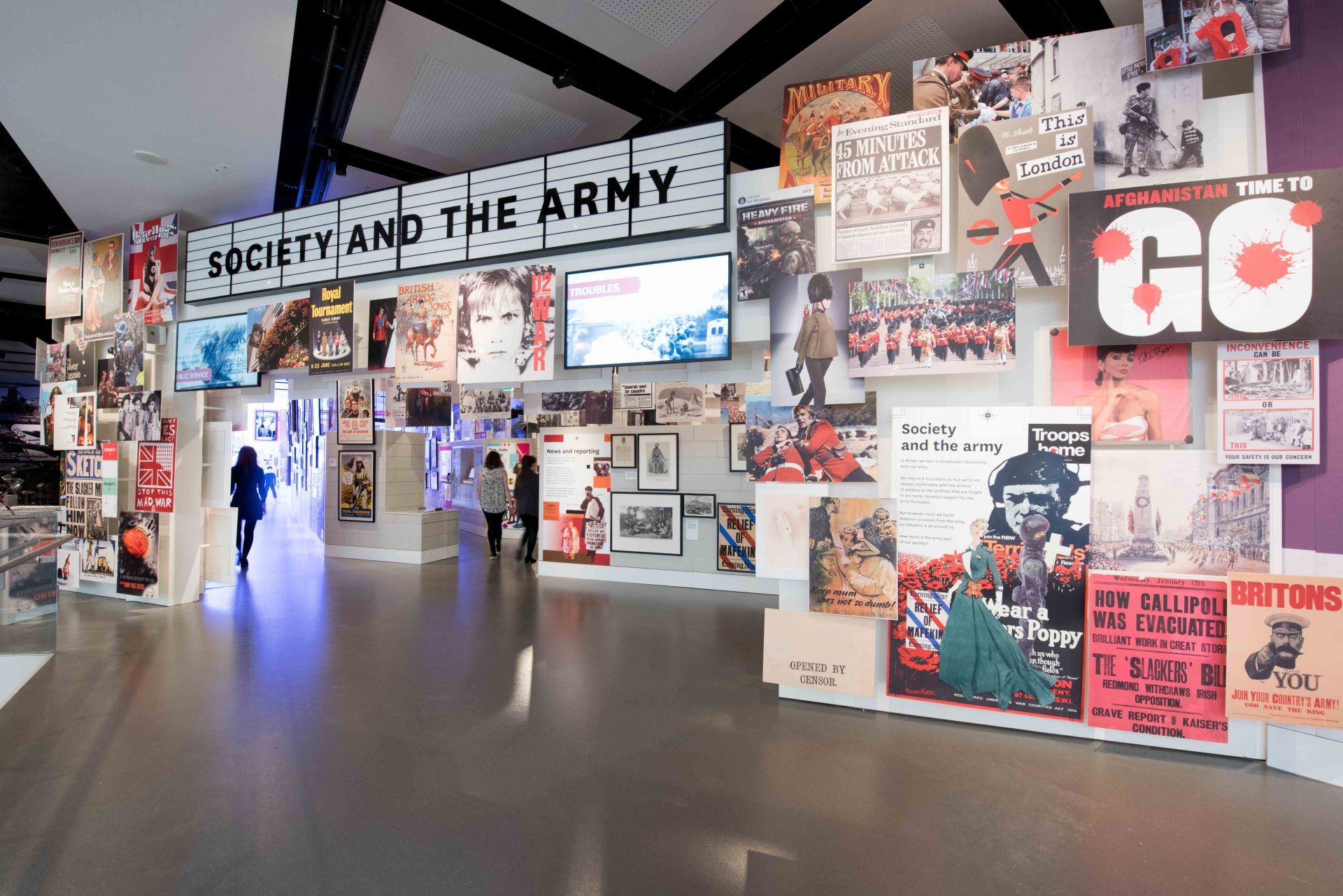 National Army Museum: Entrance to Society & The Army gallery. Photo Credit: © National Army Museum.