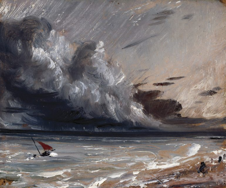 John Constable, R.A. (1776-1837), Seascape Study- Boat and Stormy Sky, ca. 1824-1828. Photo Credit: © Royal Academy of Arts, London; Photographer: John Hammond.