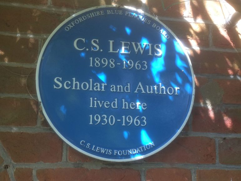 Blue Plaque at The Kilns, home of C.S. Lewis. Photo Credit: © Edwin Lerner.
