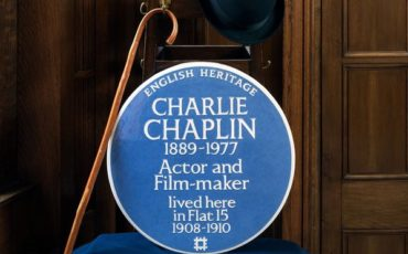 Charlie Chaplin Blue Plaque in London. Photo Credit: © English Heritage.