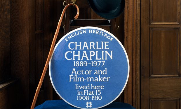 Charlie Chaplin Blue Plaque in London