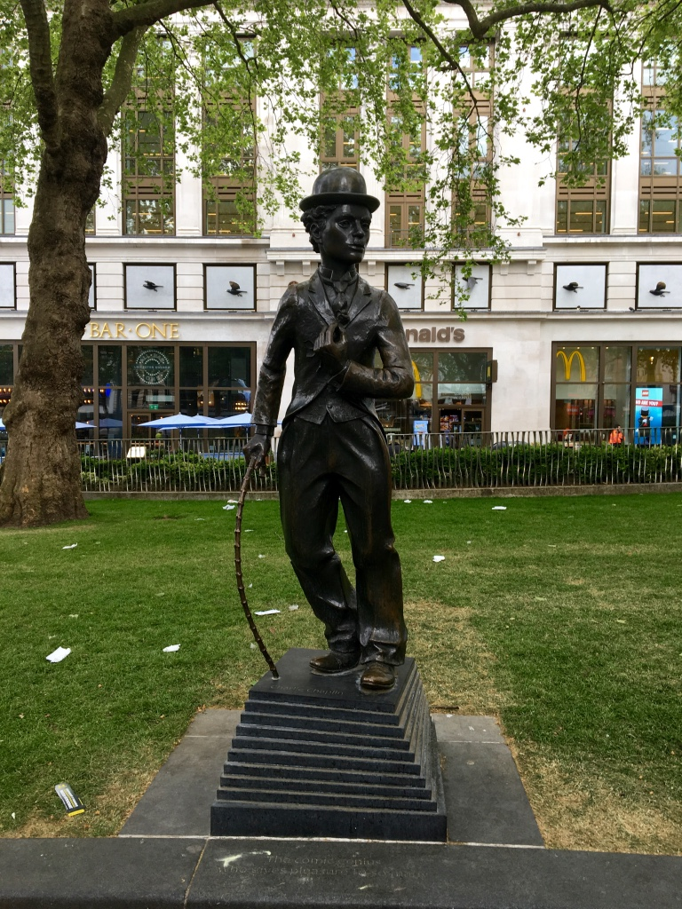 Charlie Chaplin Statue in Leicester Square, London.  Photo Credit: © Ursula Petula Barzey.