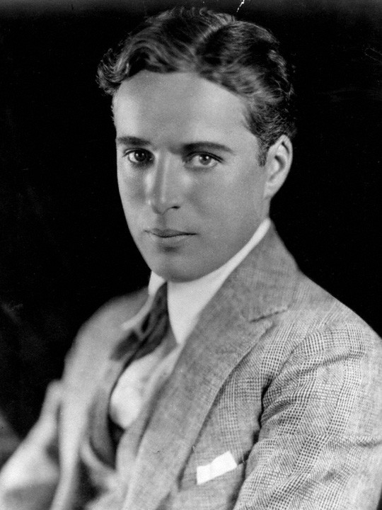 Charlie Chaplin portrait circa 1920.  Photo Credit: © Public Domain via Strauss-Peyton Studio.