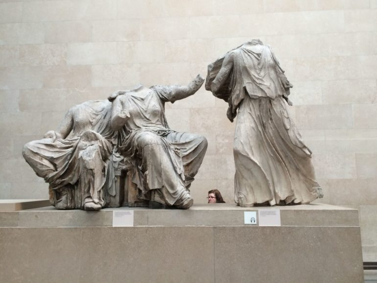 British Museum: The Elgin Marbles also known pars pro toto as the Parthenon Marbles.