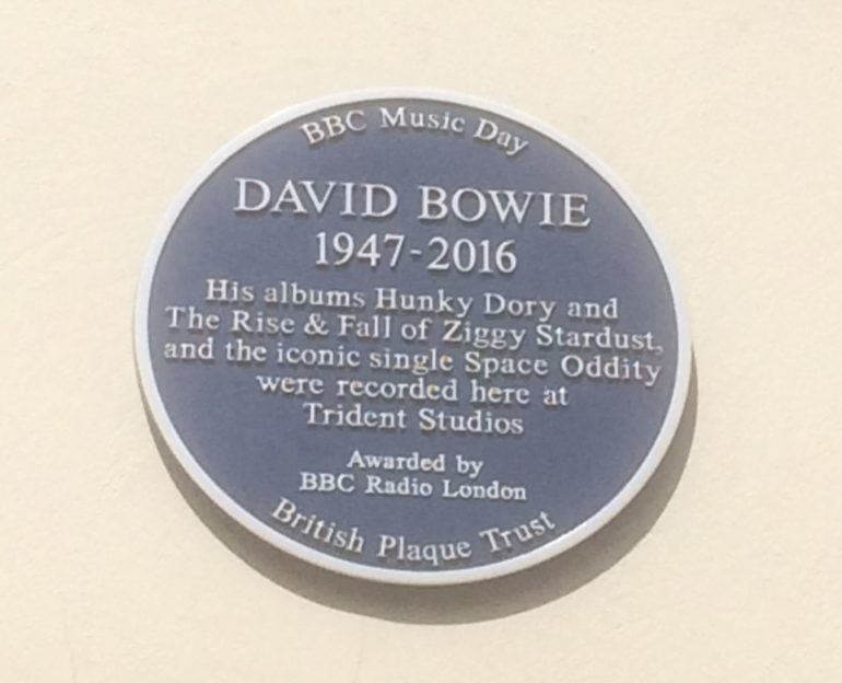 David Bowie Blue Plaque in Soho. Photo Credit: @Edwin Lerner.