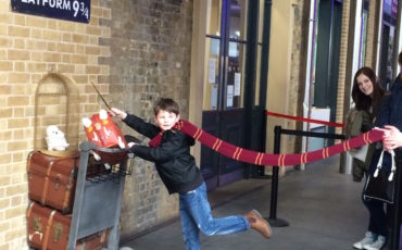Harry Potter: Platform 9 3/4 at London's Kings Cross Station