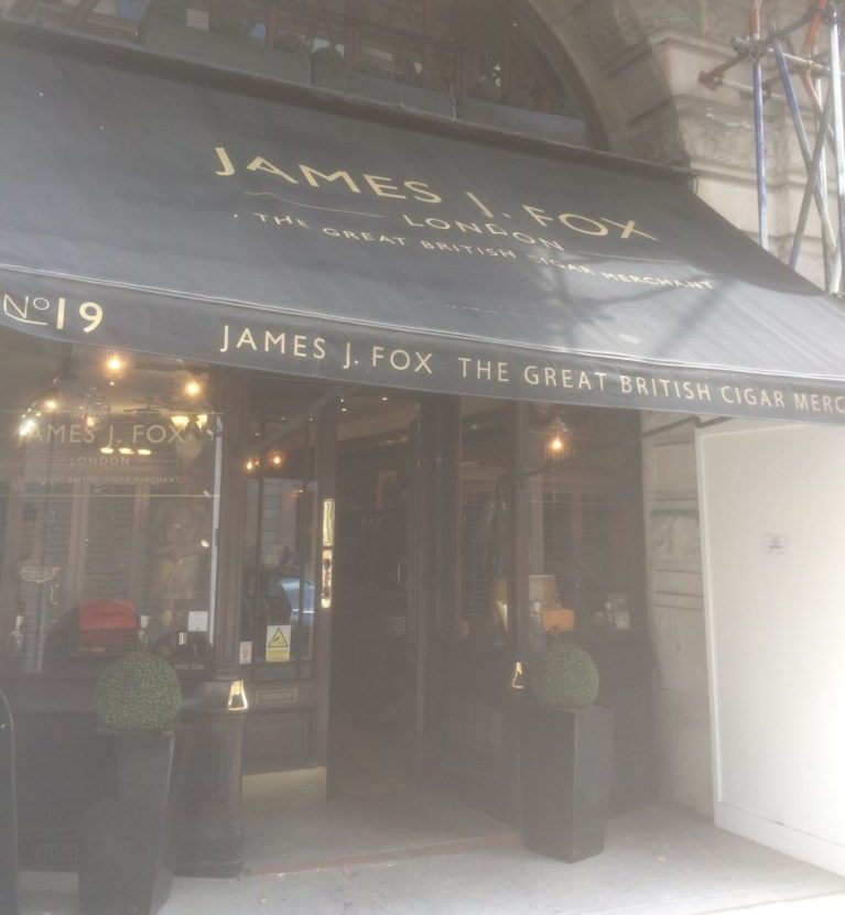 London St James's Street: James J. Fox Cigar Shop. Photo Credit: © Edwin Lerner.