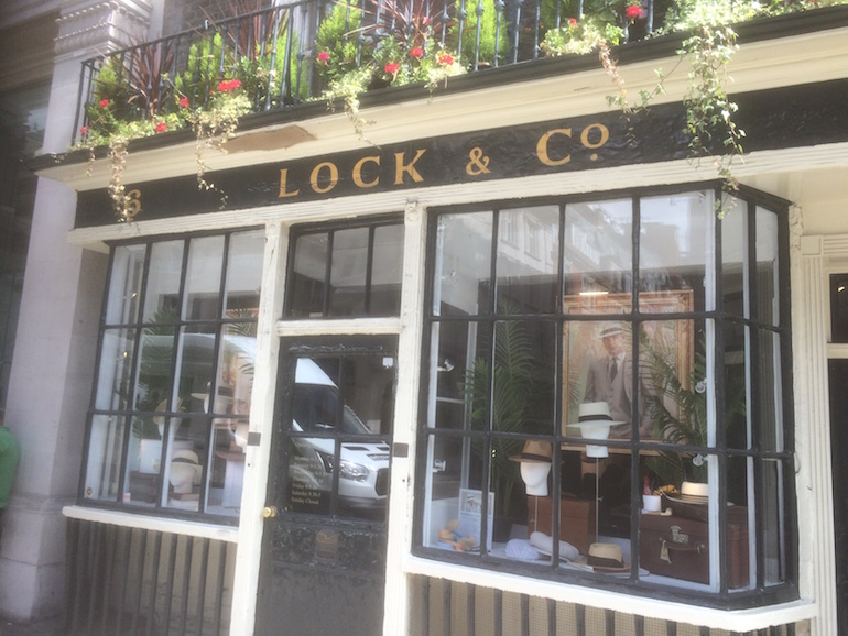 London St James's Street: Lock & Company, Hatters. Photo Credit: © Edwin Lerner.