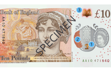 Polymer £10 banknote: back with Jane Austen