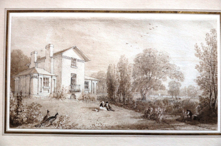 Sandycombe Lodge: Watercolour of Turner's House by William Havell c. 1814. Photo Credit: ©Turner's House Trust Collection.