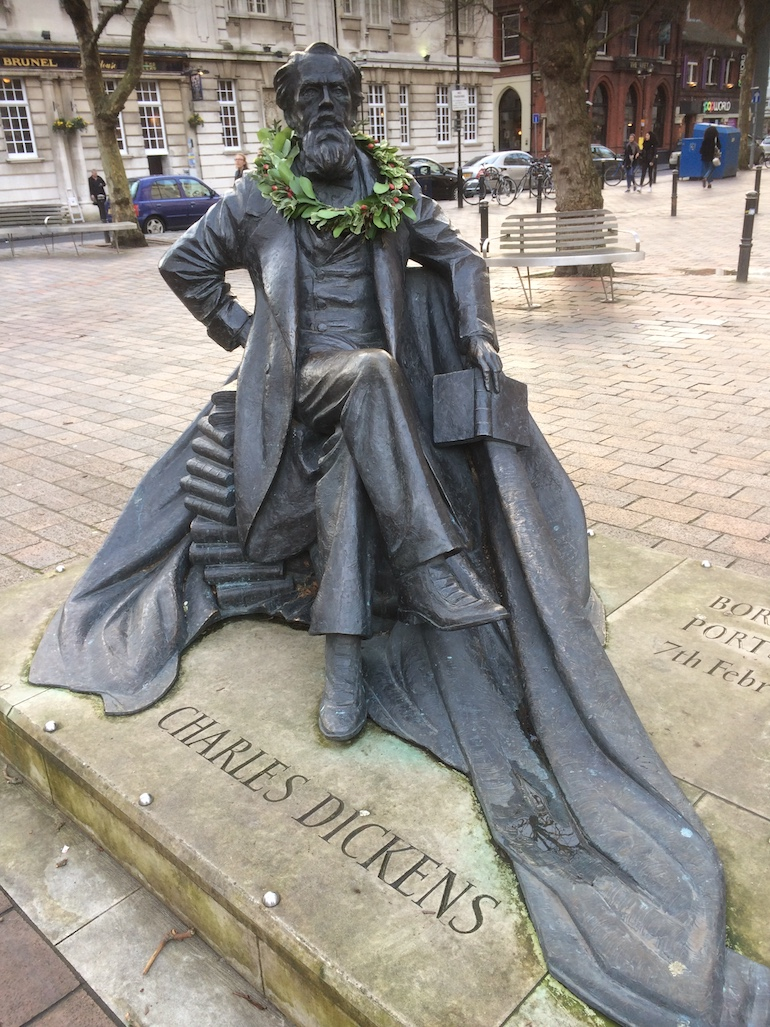 Charles Dickens Statue Portsmouth. Photo Credit: © Edwin Lerner.