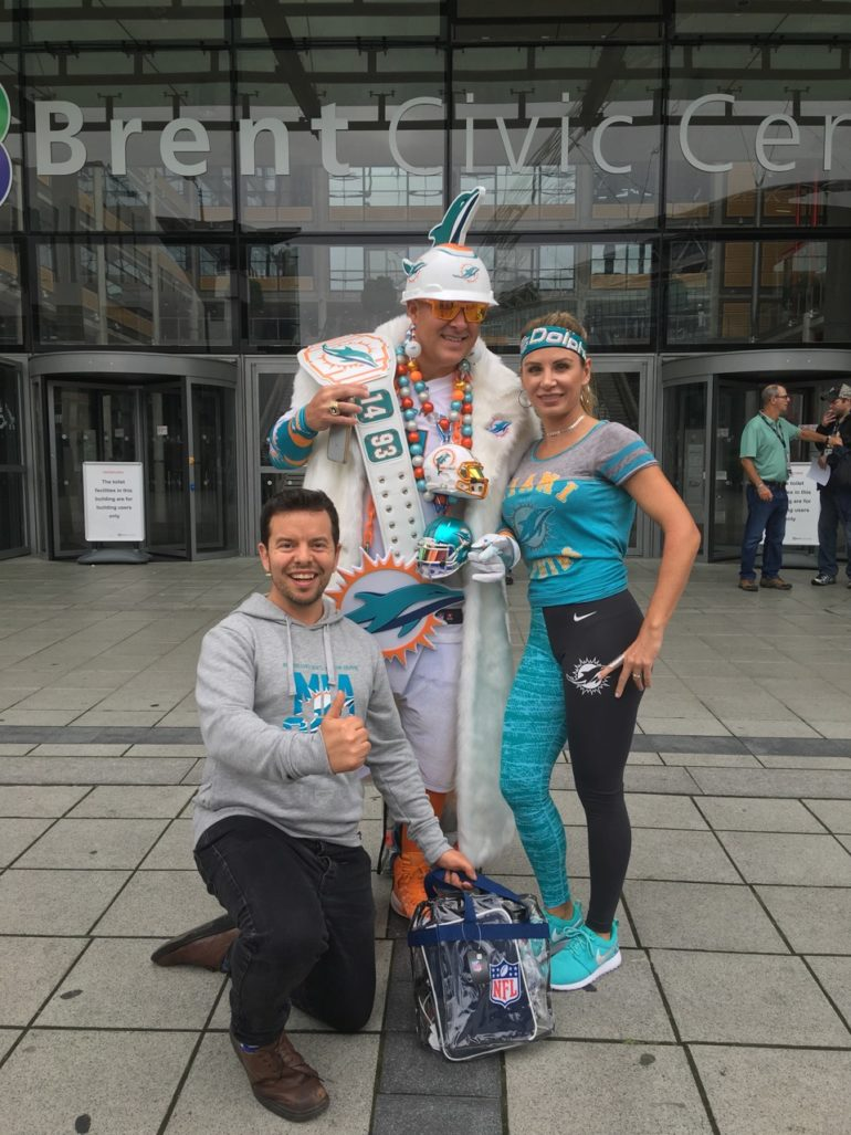 NFL International Series: Dolphin fans in London. Photo Credit: © Paul Metcalfe.